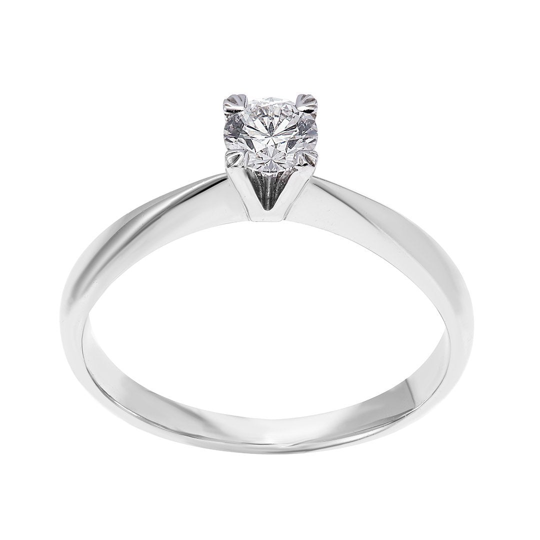 French Cut Petite Solitaire Diamond Ring