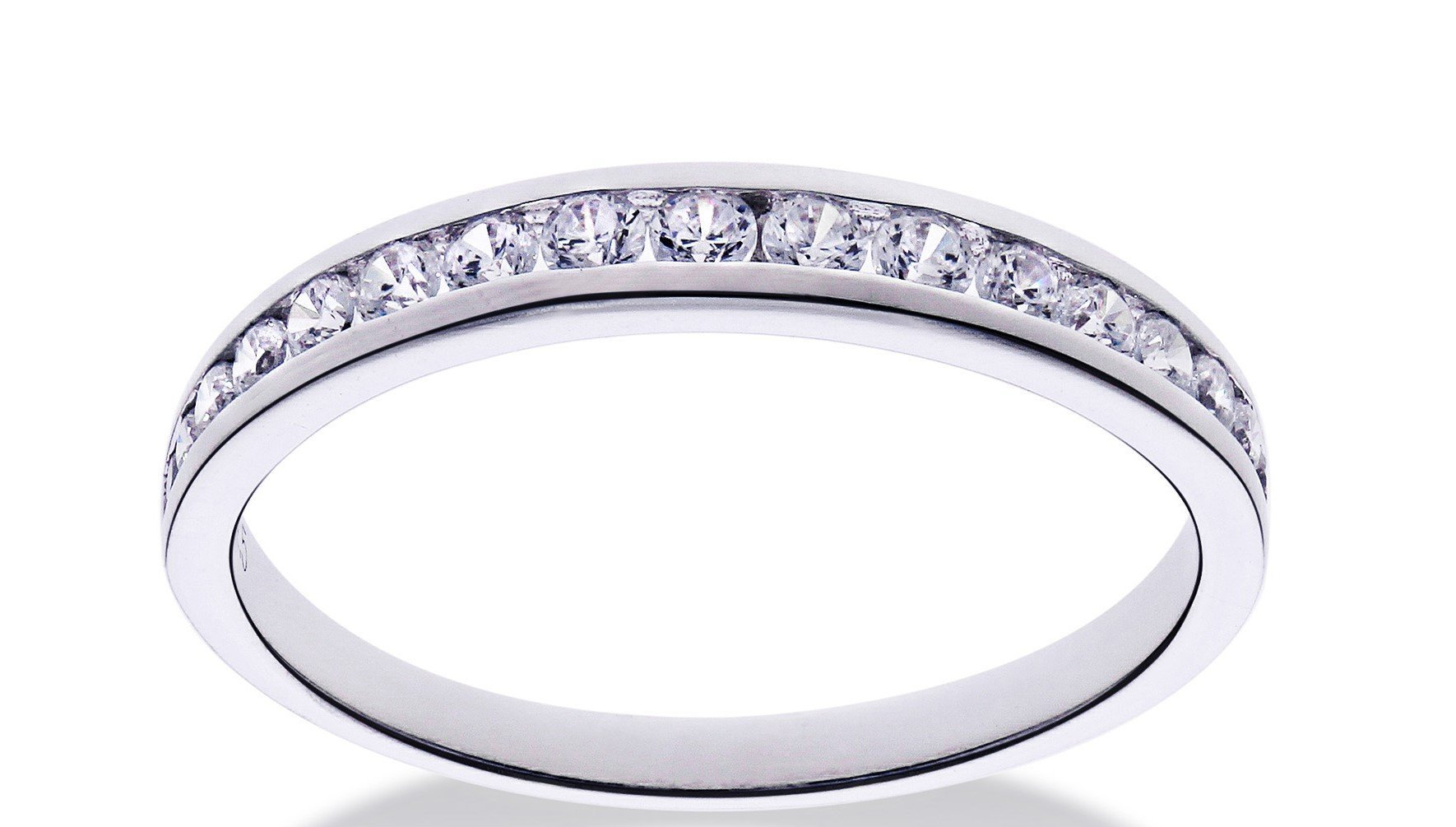 Melee Diamond Channel Set Wedding Band