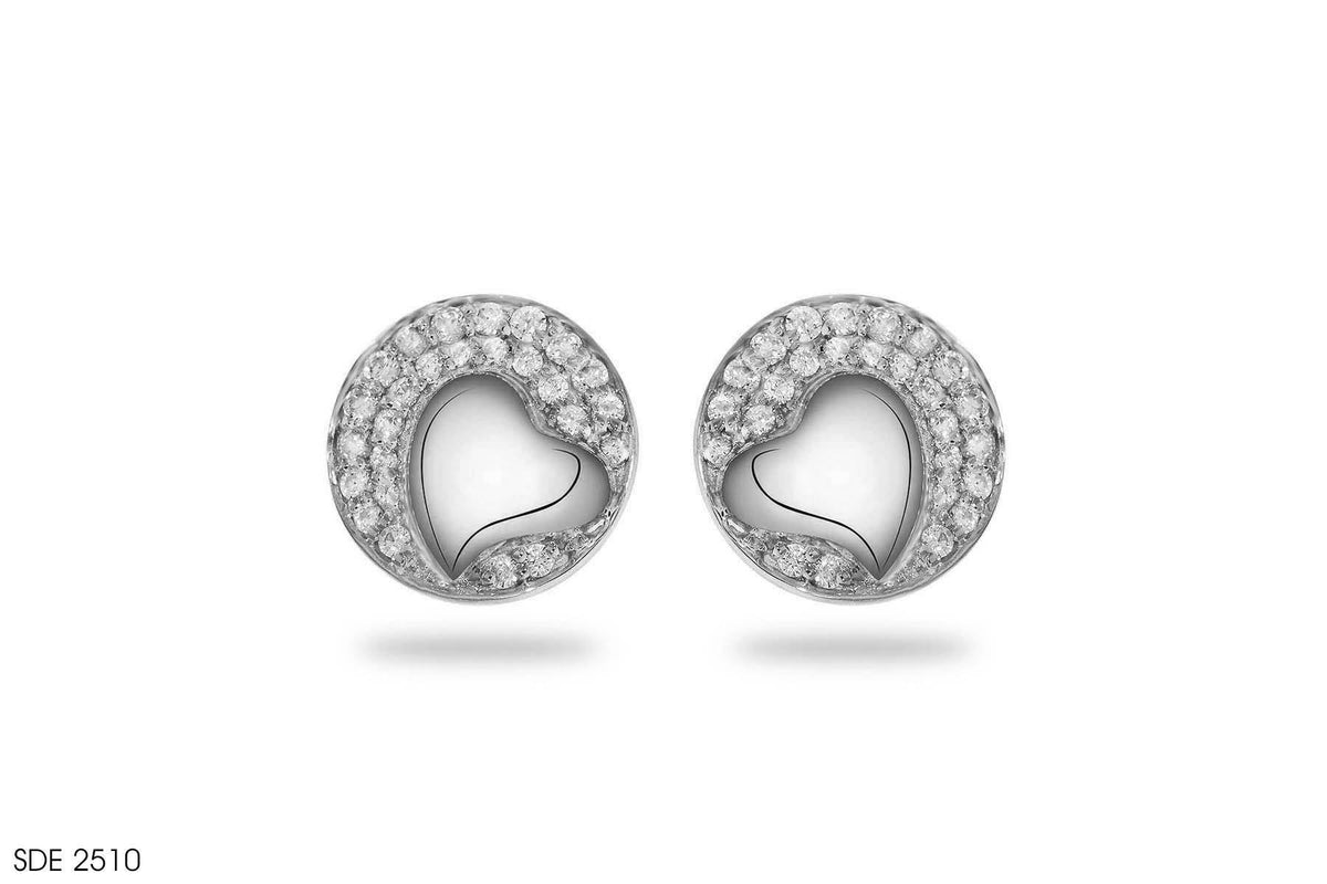 Phenomenal Heart Shaped Diamond Earring