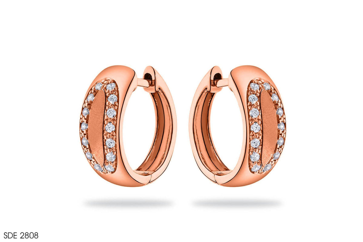 Alluring Diamond Earring In Gold
