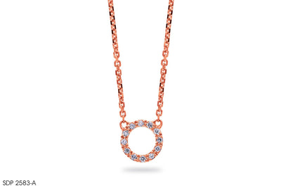 Diamond Hoop Gold Pendant