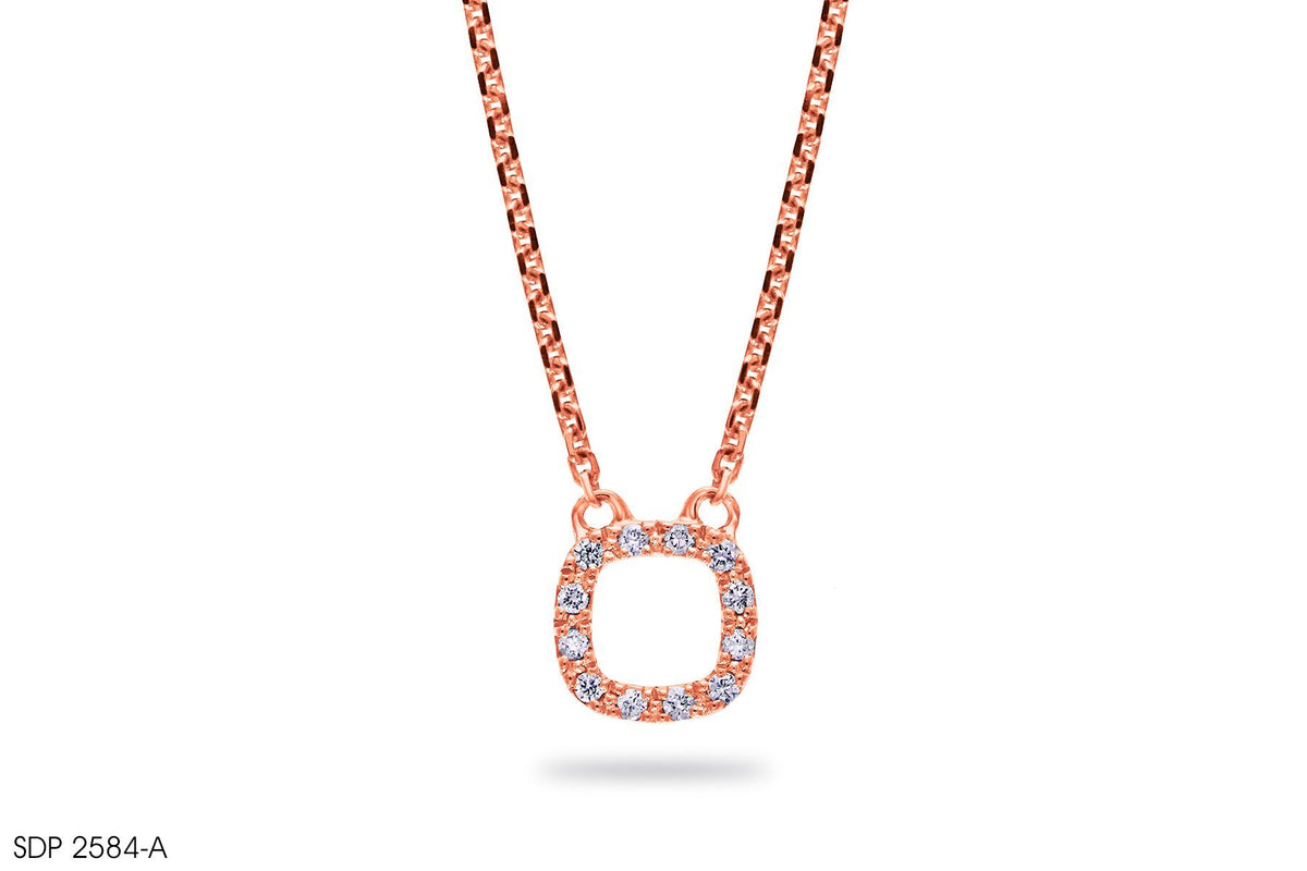 In 18k Gold Hoop Diamond Pendant