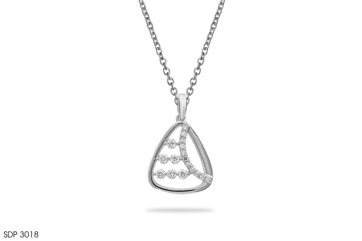Linear Array Diamond Gold Pendant