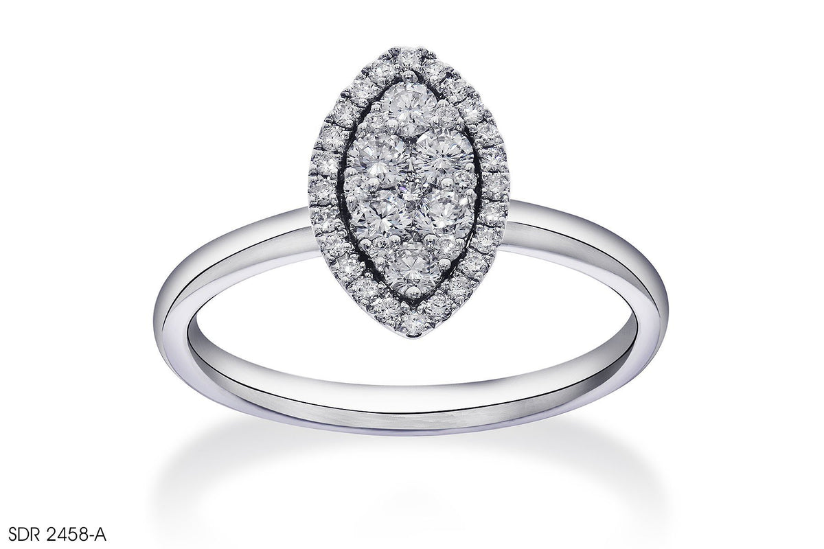 Straight Shank Halo Diamond Engagement Ring