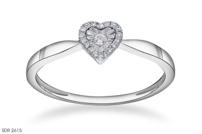 Heart-Shaped Diamond Ring In 18k Gold