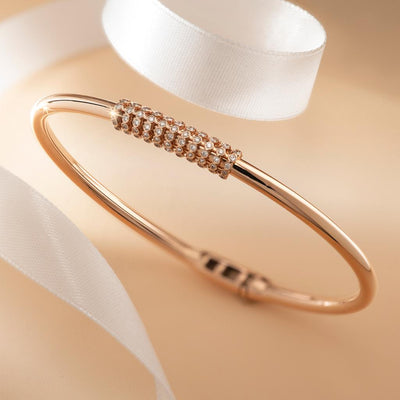 Twists Of Rope Gold Bangle