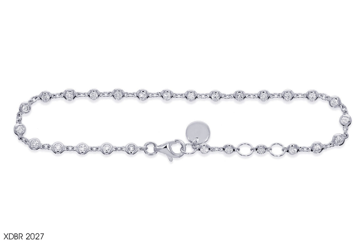 Bezel Diamond Bracelet in 18k Gold