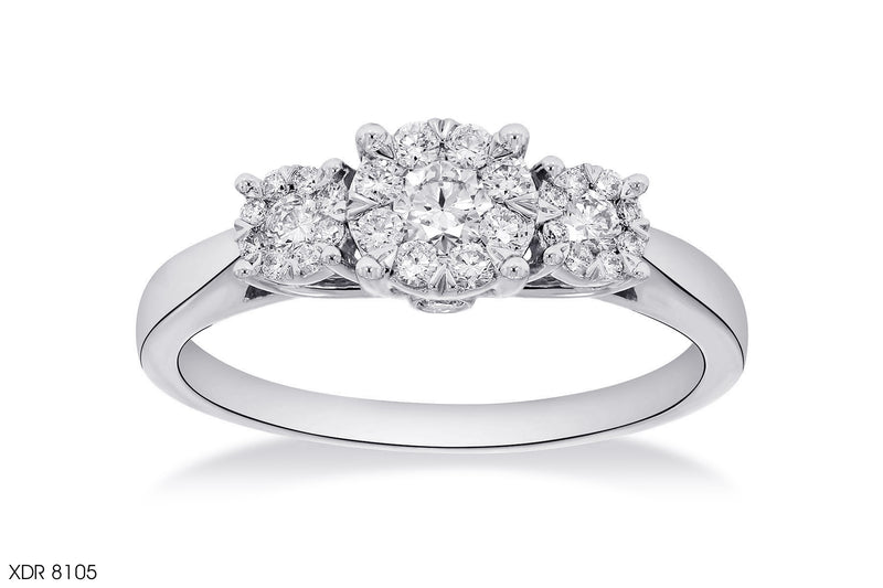 Trio Cluster Composite Diamond Ring