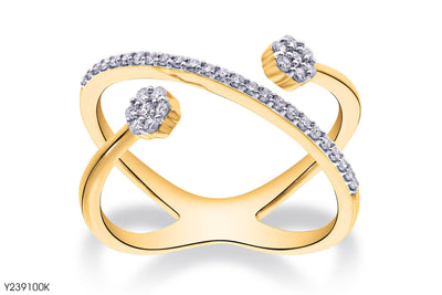 Groovy Open Gold Ring - Jeem Noon