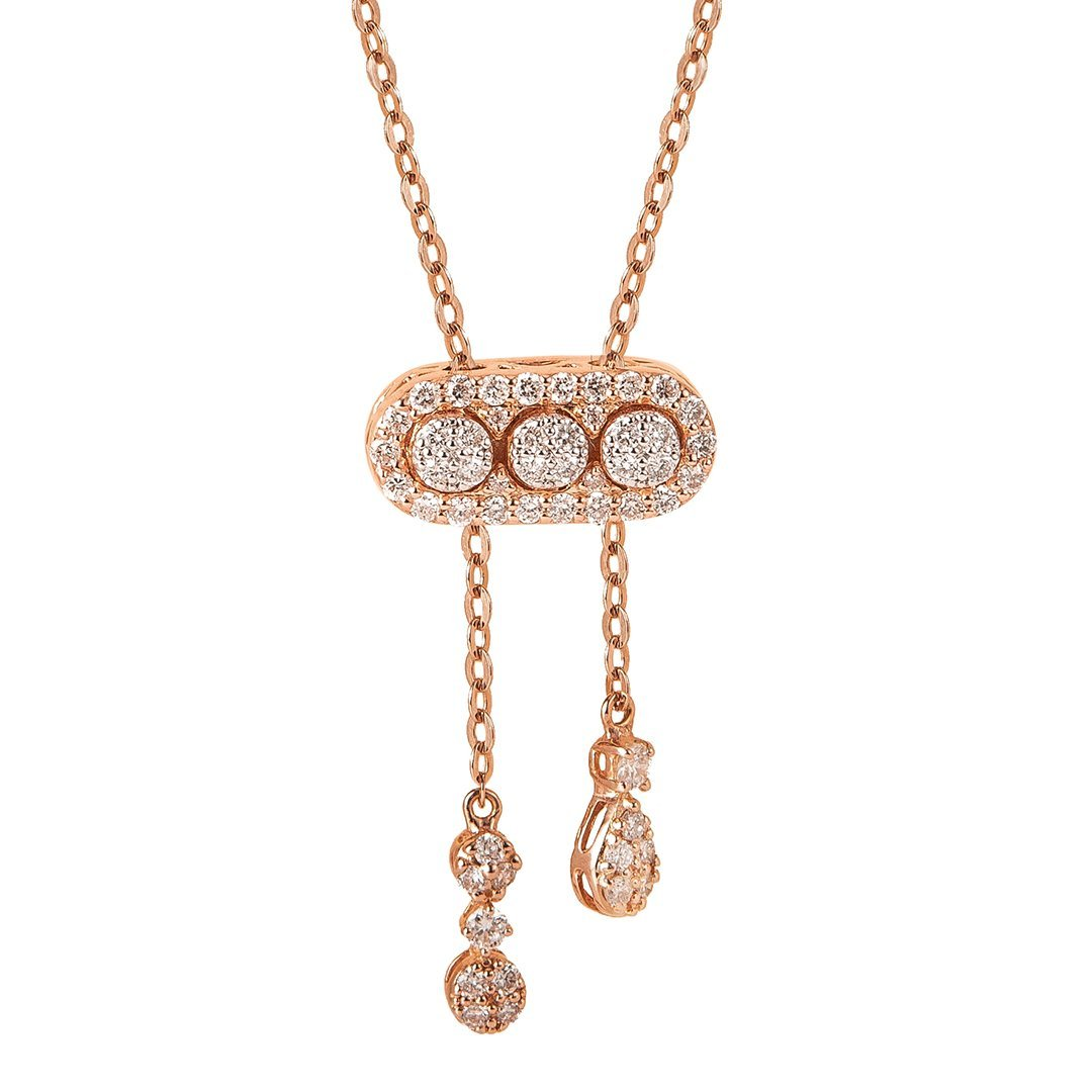 Round Motifs Diamond Pendant In Gold