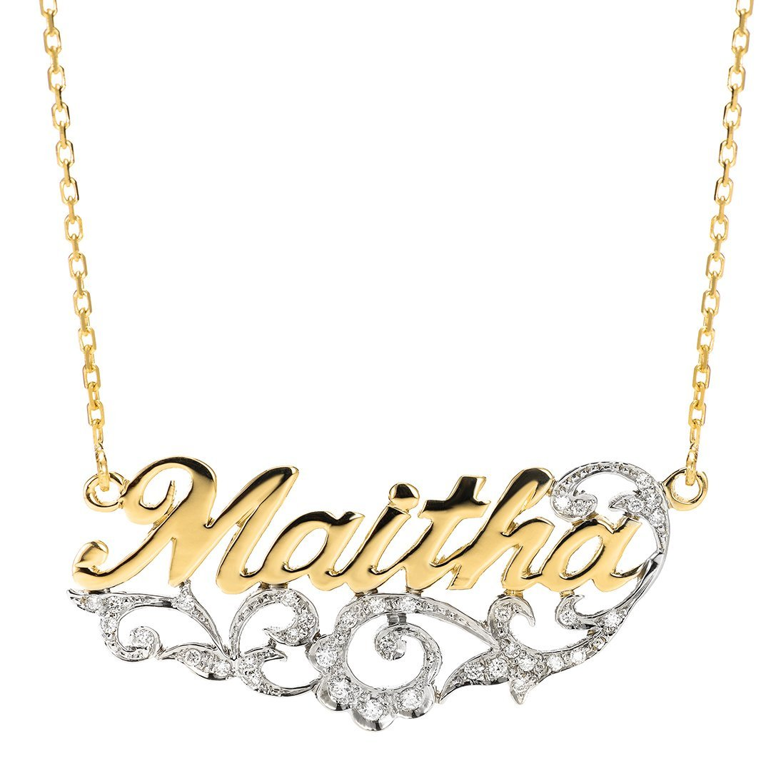 Classical Font Personalized Diamond Pendant