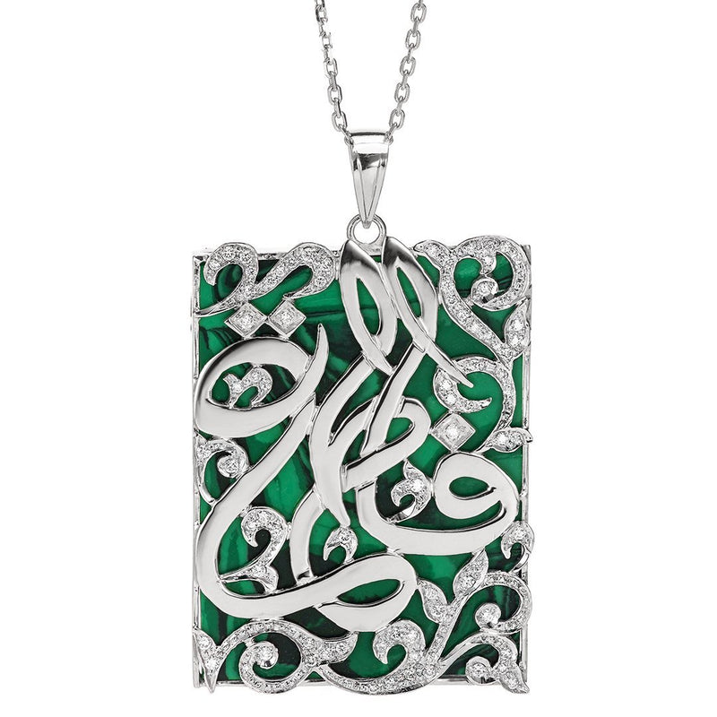 Stunning Calligraphic Name Diamond Pendant