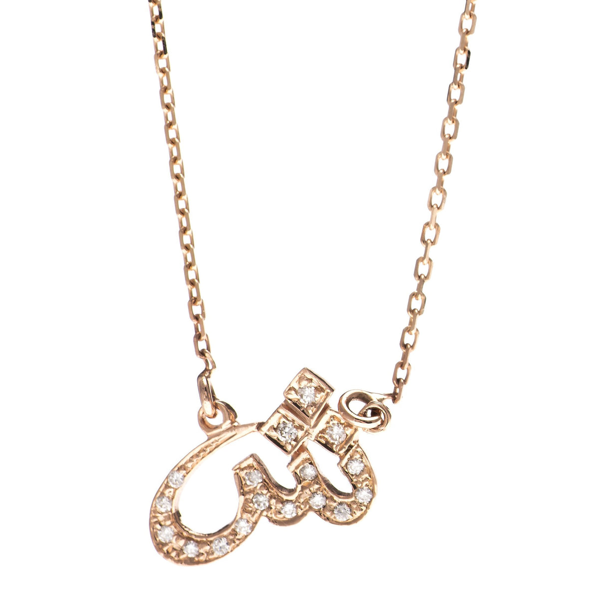 Arabic Initial Diamond Pendant In Gold