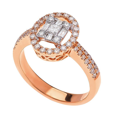 Exquisite Baguette Diamond Ring In Gold