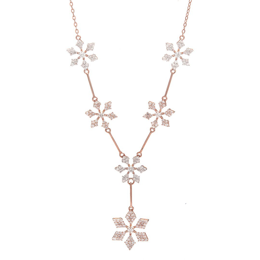 Precious Flower Diamond Pendant In Gold