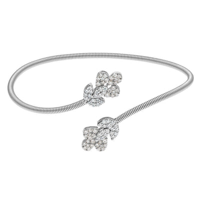 Passing-by Floral Diamond Bangle