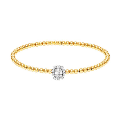 Lustrous Beads Diamond Bangle
