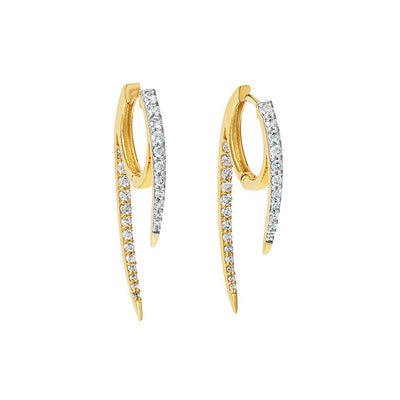 Sleek Nordic Design Diamond Earring