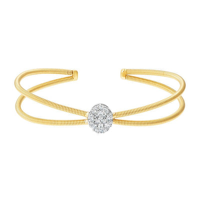 Charming Brooch Diamond Bangle In Gold