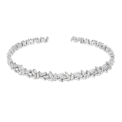 Classical Baguette Diamond Bangle