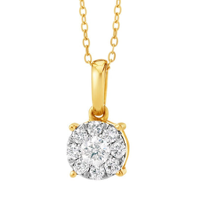 Sparkling Brooch Diamond Pendant