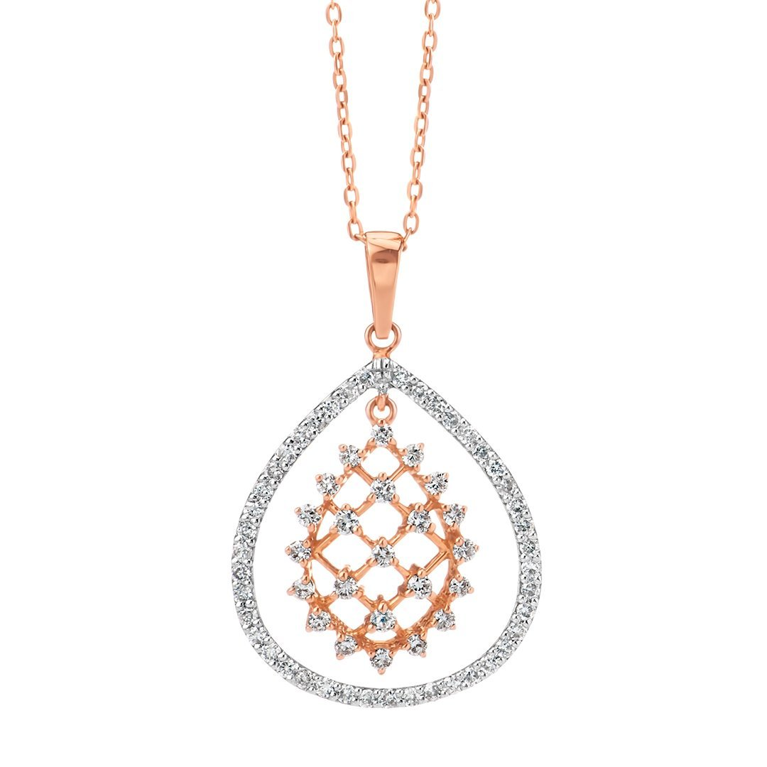 Modish Mesh Melee Diamond Pendant