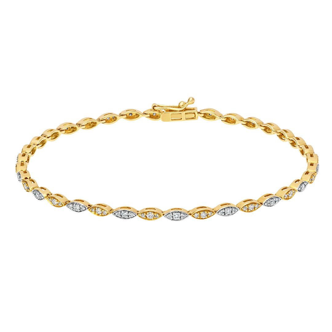 Modish Melee Diamond Bracelet In Gold