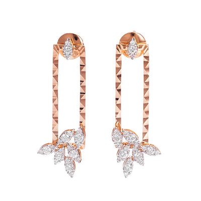Charming Hanging Vine Diamond Earring