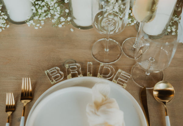 Wedding Resin Letters