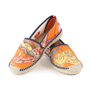 ABRIL Orange Classic Espadrilles