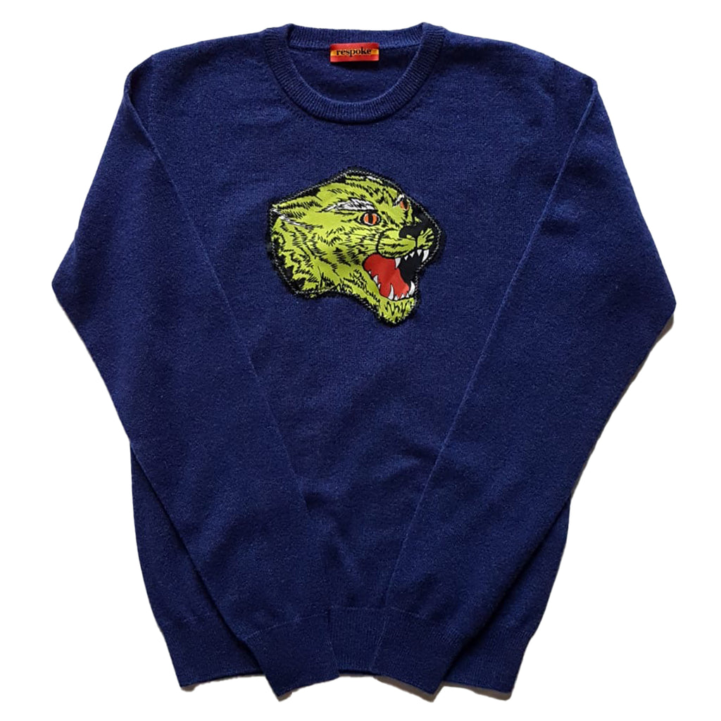 SPIKE Cashmere Crewneck Sweater in Navy