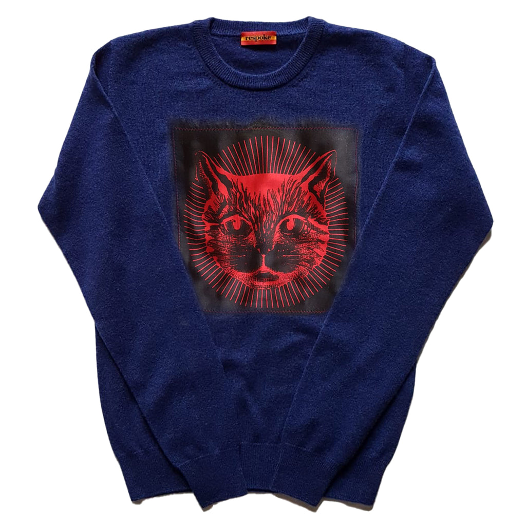 RASCAL Cashmere Crewneck Sweater in Navy
