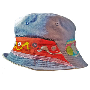 Bucket Hat - Denim with Pucci Silk - S/M