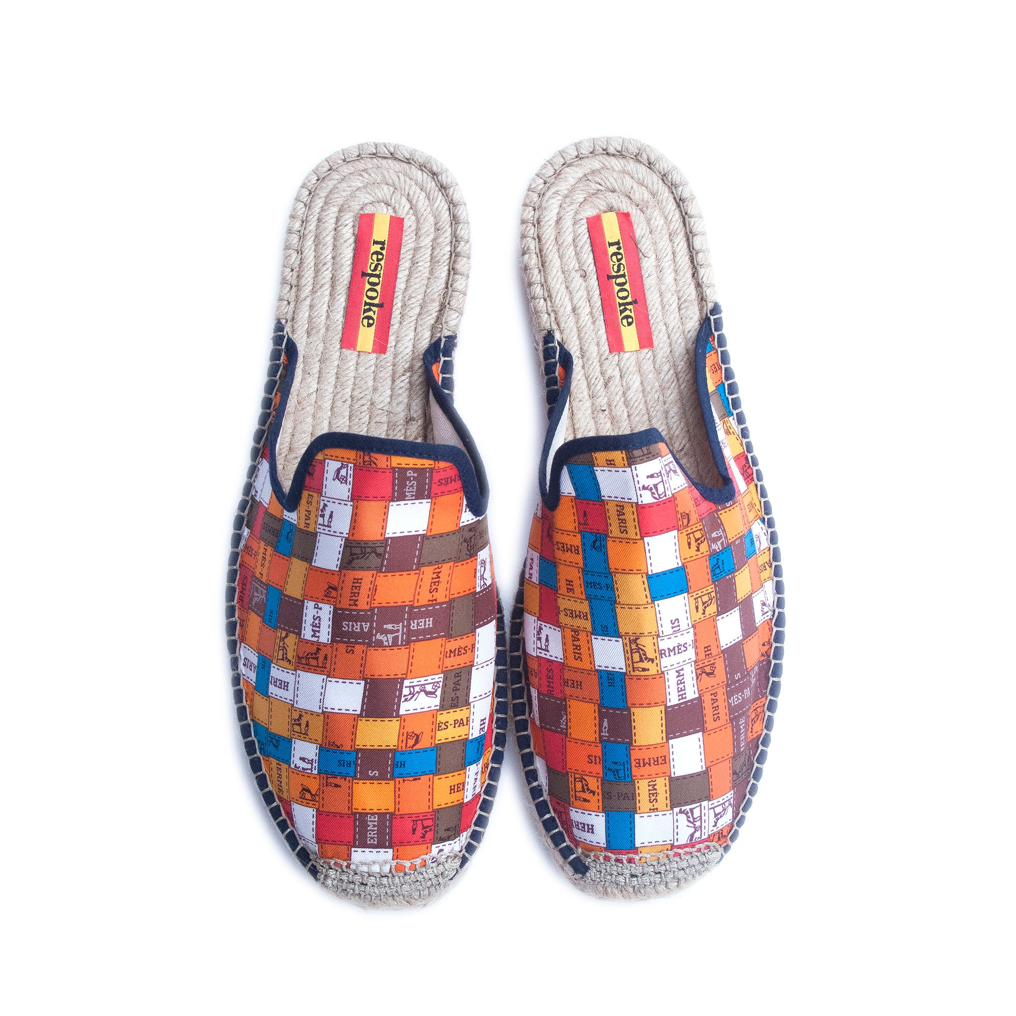 FEBE Orange Mule Espadrilles