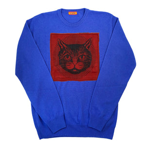 FRESCO Cashmere Crewneck Sweater in Royal