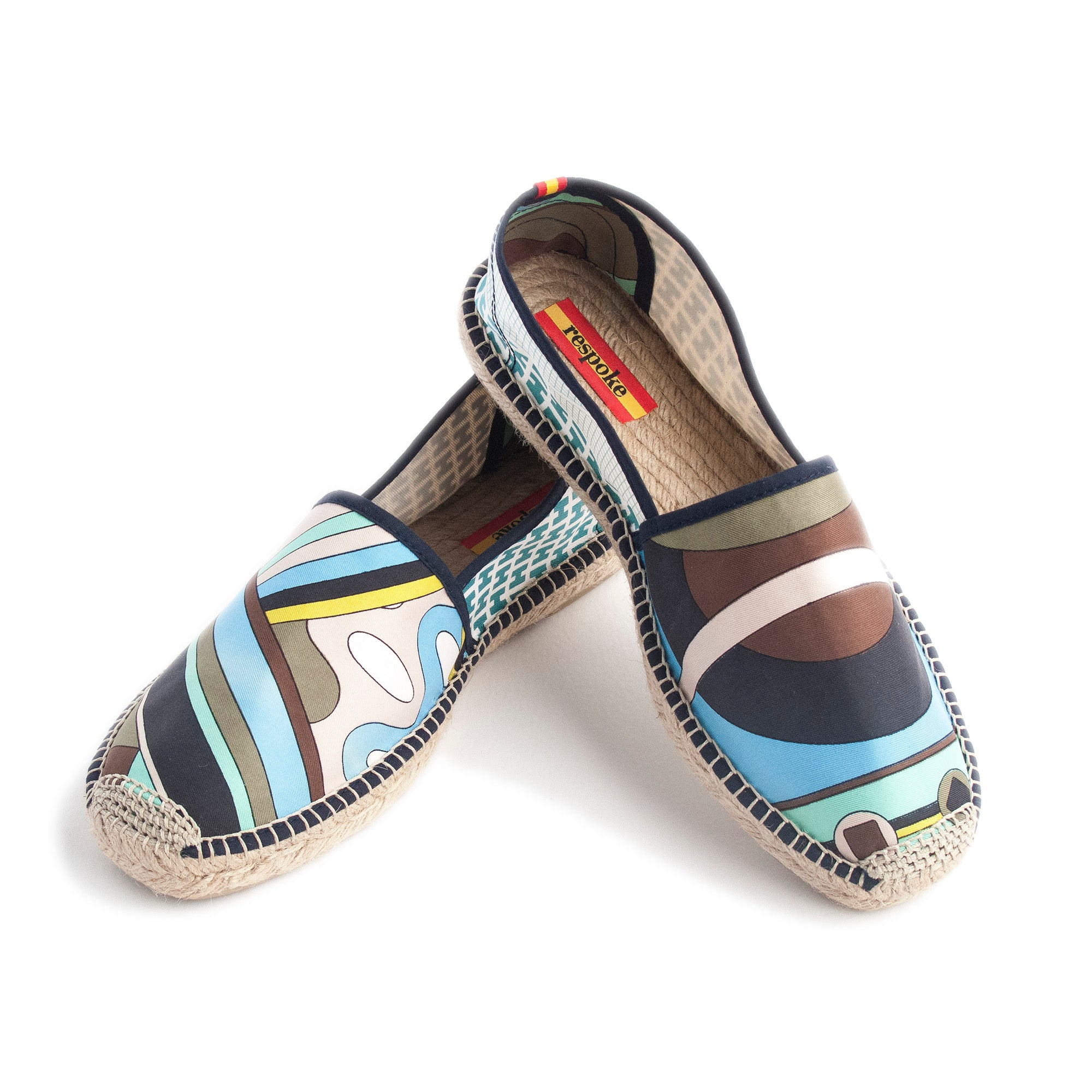 LINDY Blue/Green Mash-Up Espadrilles
