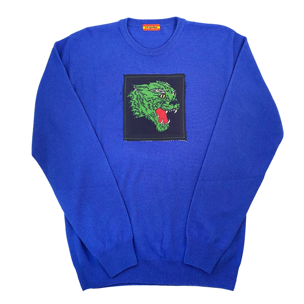 SPIKE Cashmere Crewneck Sweater in Royal