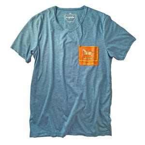 T-Shirt with Equestrian Motif Silk Patch