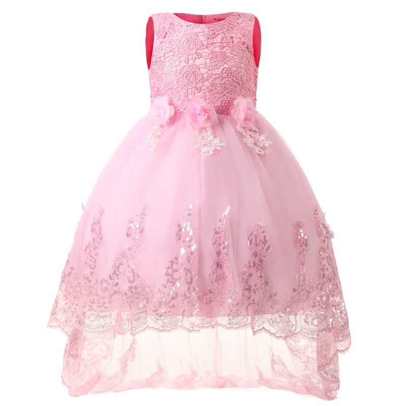 4 12 Years Kids Girls Party Dress
