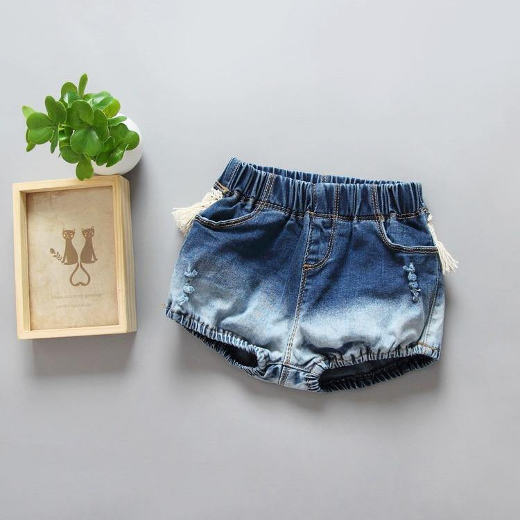 Fashion Toddler Kids Girls Tassel Denim Shorts