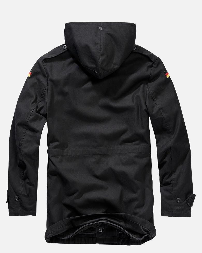 German Flag Army Parka - Black