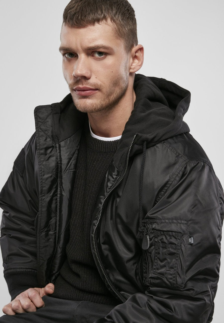 Hooded MA1 Bomber Jacket