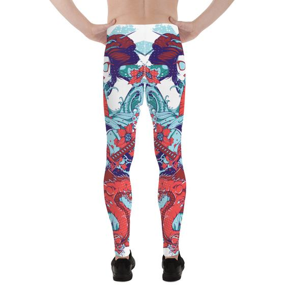 Mens Leggings - Japanese Geisha Leggings