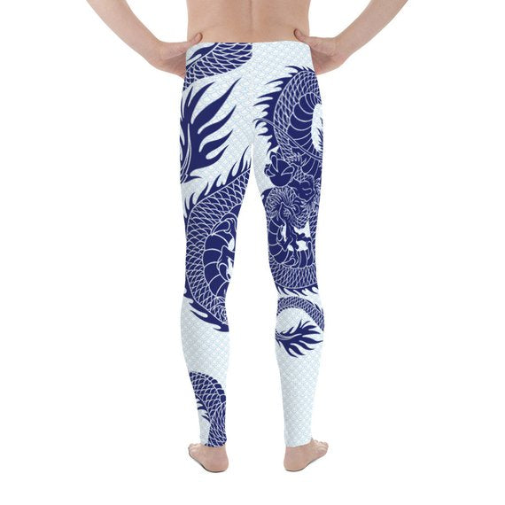 Mens Leggings - Dragon Leggings with Scales