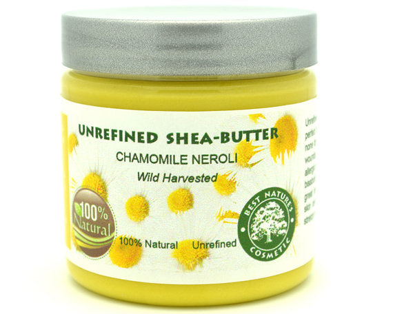 Unrefined Chamomile Neroli Shea Butter for skin