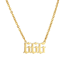 "Load image into Gallery viewer, AI x DC Collection | Angel Number "" 666"" Necklace"