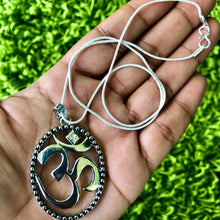 "Load image into Gallery viewer, Sterling Silver 18"" Om Sacred Sound Necklace"