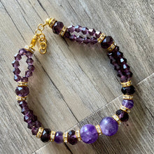 Load image into Gallery viewer, Gold Amethyst Bracelet