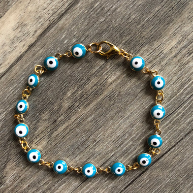 Blue Evil Eye Anklet