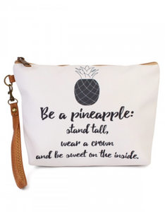 """Pineapple"" Crystal Travel Bag"